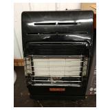 G1 Remington propane cabinet heater heats objects