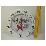 Outdoor bird thermometer