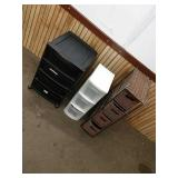 F1 four drawer wicker four drawer black and three