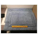 Gold coast double border cotton bath rug set of 2