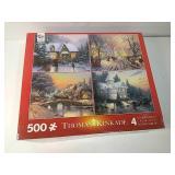 New Thomas kinkade 4 jigsaw puzzle set