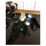 M5 lot of braces wrist guards and shoes