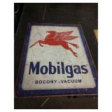 Sc19 Mobil gas tin sign 16 x 12 and a half