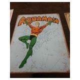 Sc19 Aquaman tin sign 16 x 12 and a half