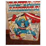 Sc19 Captain America tin sign 16 x 12 and a half
