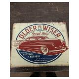 Sc19 older and wiser speed shop tin sign 16 x 12