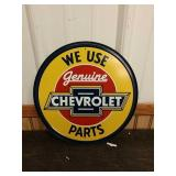 Sc19 Chevrolet  tin sign 12in round