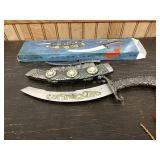 M6 dual sheath fantasy display knife