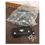 Q1 bag of leather biker wallets