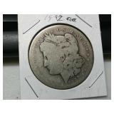 Rare Key Date 1892 CC Silver Morgan dollar