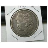 Better date 1892 o Silver Morgan dollar