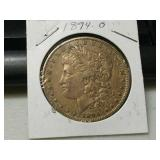 Better date 1894 o Silver Morgan dollar
