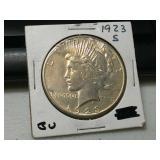 1923 S silver peace dollar