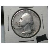 Key date 1937 S silver Washington quarter