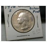 1976 s Silver proof bicentennial Washington