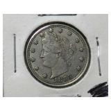 High grade 1883 liberty v nickel, no cents
