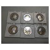 6 Washington quarter proofs