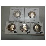 5 Washington quarter proofs