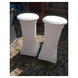 ZL 2 pedestal pillars plant stands 29 in tall 14