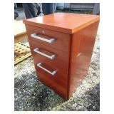 "ZLthree drawer wood filing cabinet 18"" x 18""x31"""