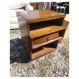 ZM mid-century modern end table 20 in wide 19 in