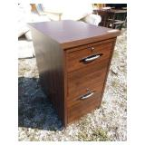 ZM 2 drawer filing cabinet wood 17 in wide 27in