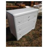 ZM white painted dresser 40 in wide 19 in deep 34