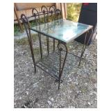 ZM end table plant stand wrought iron 20 1 in