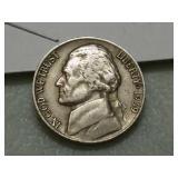 Key date 1939 D Jefferson nickel