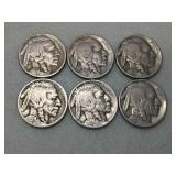 Better date Buffalo nickels, 4 with mint marks