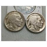 2 better dates 1925 Buffalo nickels