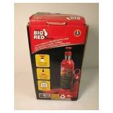 Big red 2 ton hydraulic welded bottle jack