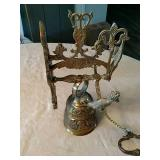 Ornate wall mount brass Bell.