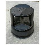 Metal rolling kick step stool.