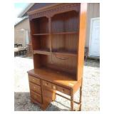 ZN desk with bookshelf made by Bassett 42 in wide