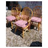 ZB 5 Maple kitchen chairs with cushions