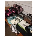 P1 Assorted lot of backpacks and cinch bags and
