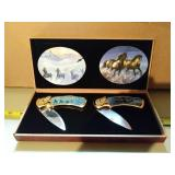New pair of Horse Knives fall and winter theme in