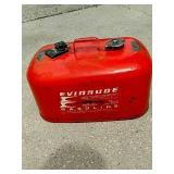 Vintage metal Evinrude 6 gallon outboard motor