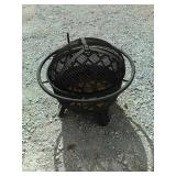 Os1 portable fire pit with cooking grill