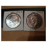 Sc9 2 1976 d bicentennial Ike US dollar coins