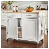 Blg2 glenville white kitchen cart 42 inches long
