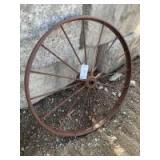 Vintage steel wheel