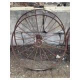 2 Vintage steel wheels
