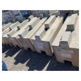 6 concrete bunker blocks