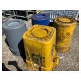 4 Trash cans