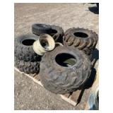 Assorted off road vehicle tires