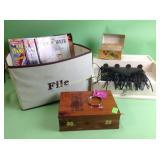 Desk organizer, Bible, recipe box, NFL Broncos