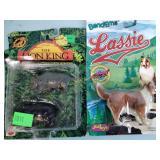 Lion King & Lassie plastic toys