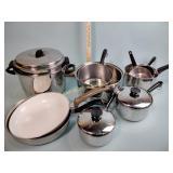 Pots & pans incl. Revere Ware